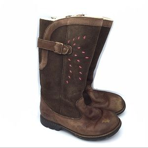 UGG Leather Girls Brown raiding Tall Boots 2